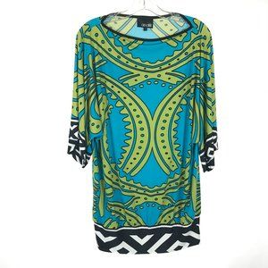 Size Large Analili Retro 60s Mod Print Tunic Top